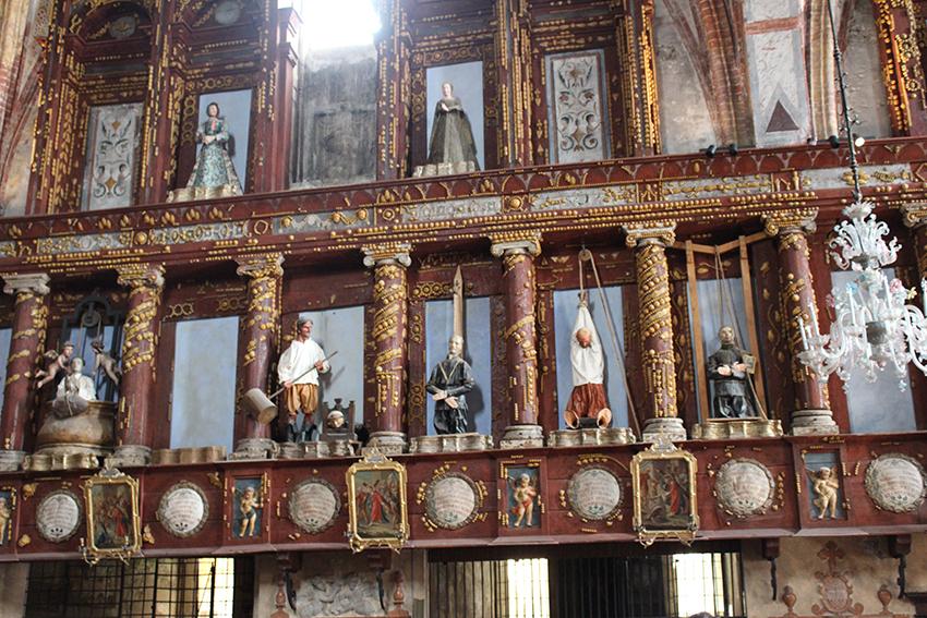 Le statue del loggione