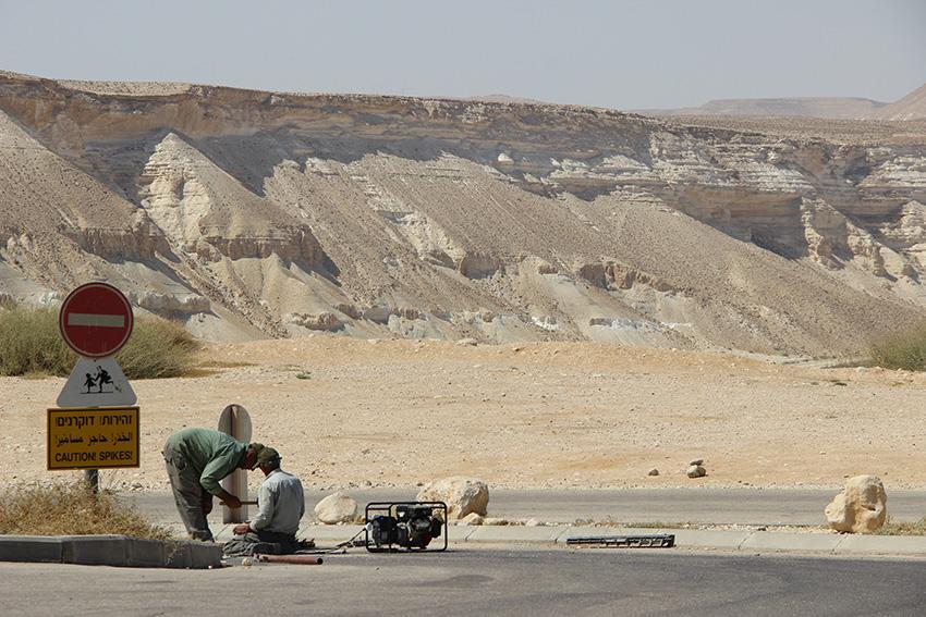 Nel deserto, lavori in corso