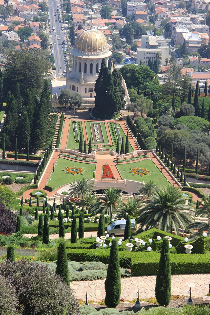 Tempio Bahai ad Haifa sul Monte Carmelo