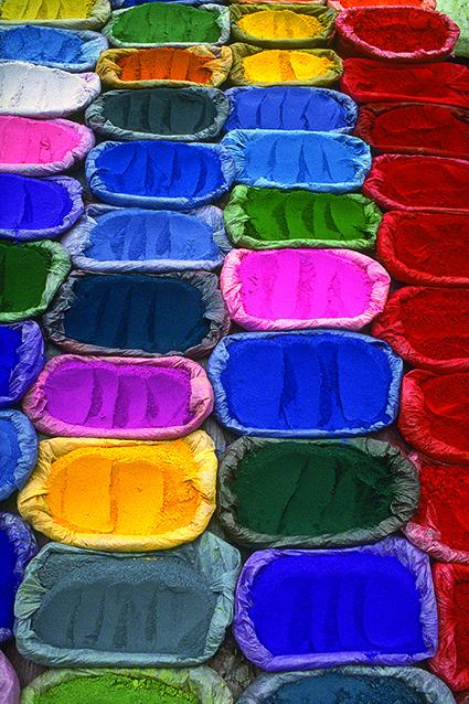 Il mercato dei colori a Pashupatinath
