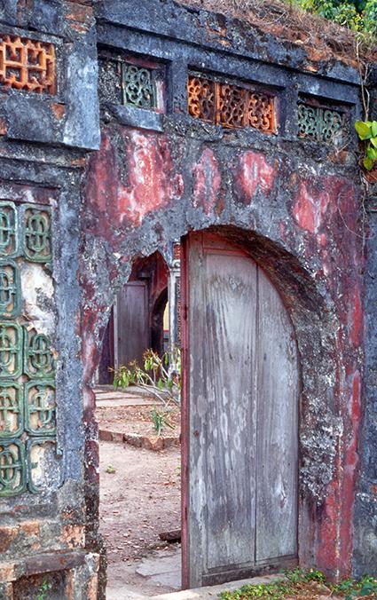 Ingresso di un'abitazione nei pressi di Gorakhnath sul colle che sovrasta Pashupatinath
