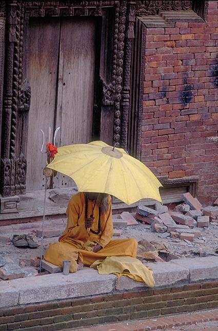 Sadhu nel quartiere di Thamel, Kathmandu