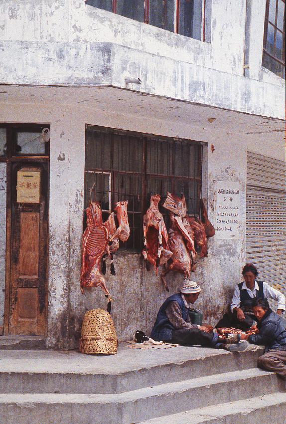 Zanghmou, bottega di carne