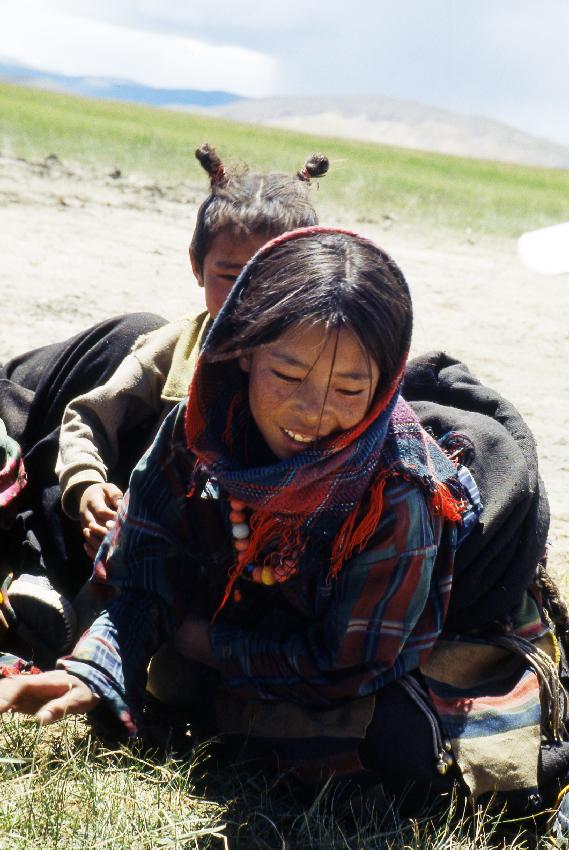 Una giovane tibetana