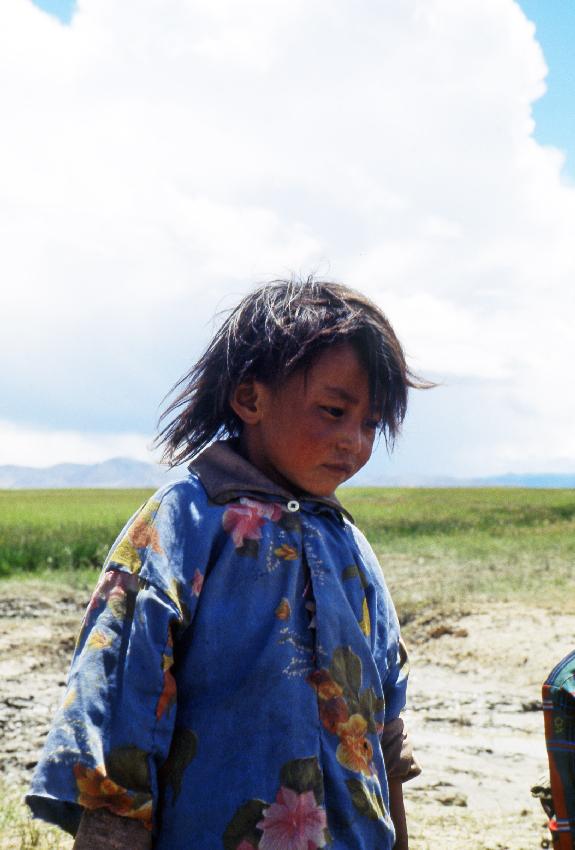 Una bambina tibetana