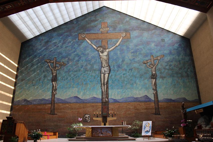 Chiesa di Santa Barbara, mosaico di Tomea