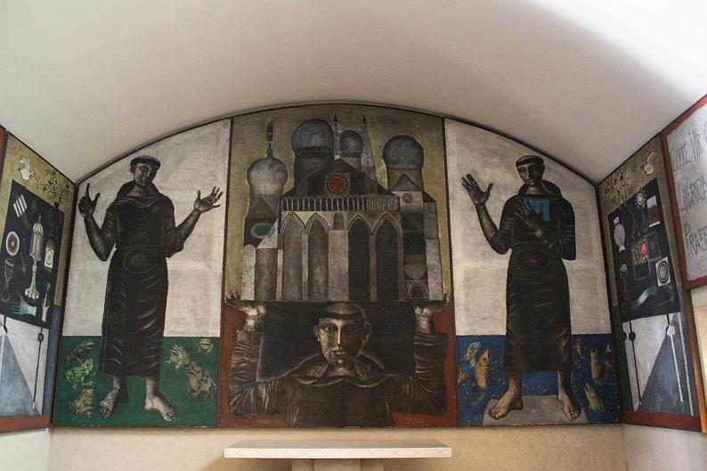 Chiesa di Santa Barbara, cappella di Sant'Antonio opera di Gentilini