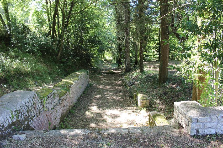 Licenza, villa di Orazio, il giardino