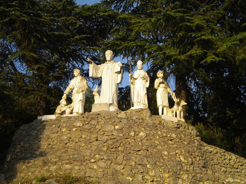 Subiaco, il monumeto a San Benedetto realizzato nel 1999
