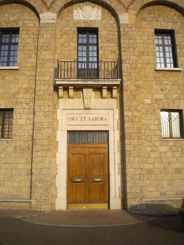 Subiaco, l'ingresso del monastero in cui vennero stampati i primi libri della storia d'Italia