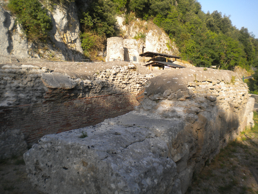 Subiaco, vista sui ruderi della villa di Nerone