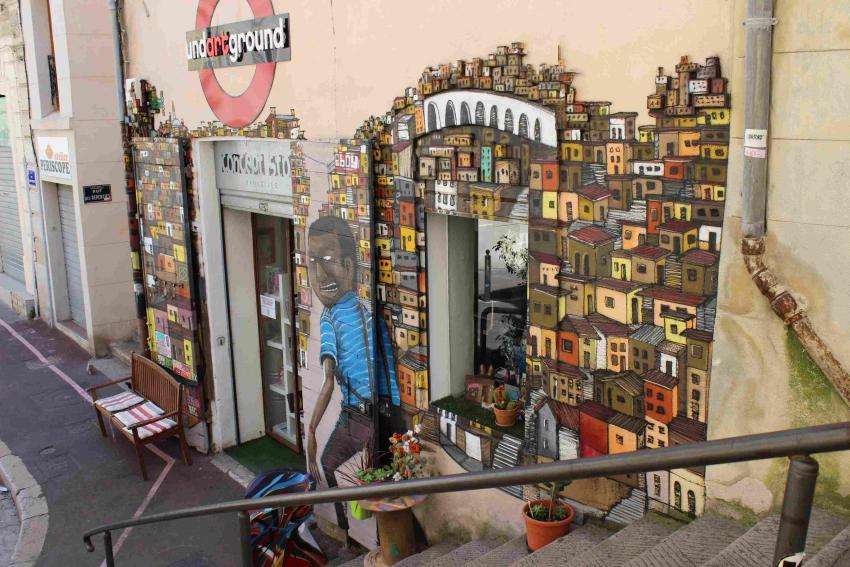 Marsiglia, murales al Panier