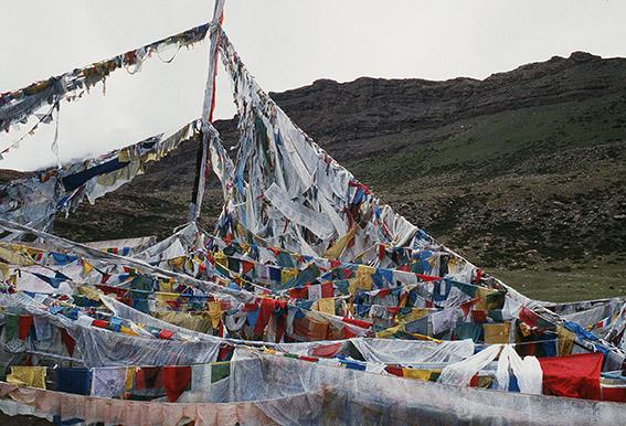 Bandiere di preghiera presso Darchen