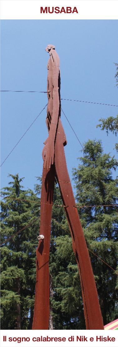 Musaba - L'ombra della sera - statua alta 15 metri