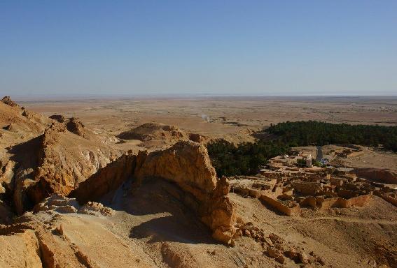Oasi di Tamerza vista dall'alto