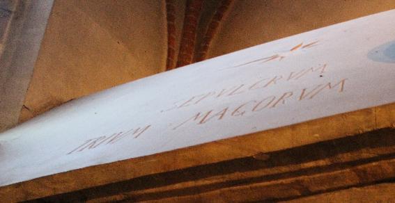 Sant'Eustorgio . La scritta sull'arca dei Re Magi