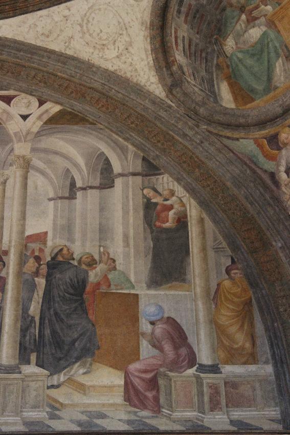 Sant'Eustorgio - Cappella Portinari -Affresco dei miracoli di San Pietro