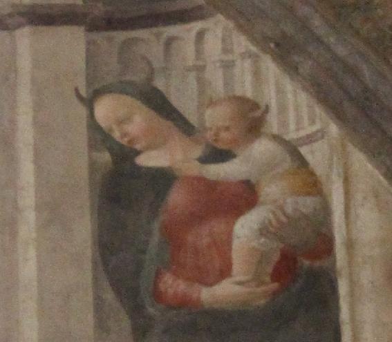 Sant'Eustorgio - La Madonna con le corna - dettaglio