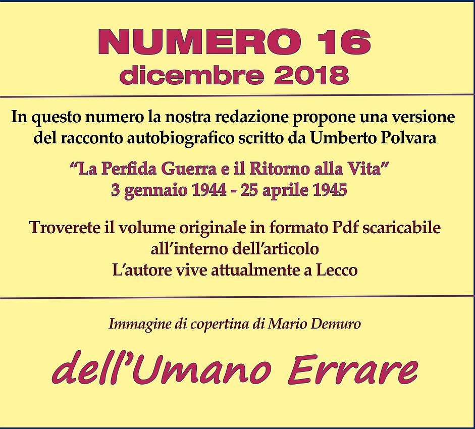 N° 16 – dicembre 2018