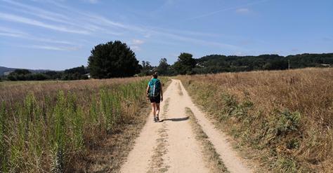 Camminatore lungo il Cammino di Santiago - Dellumanoerrare