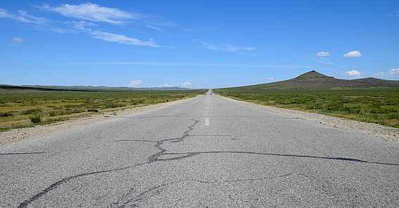 Strada in Mongolia