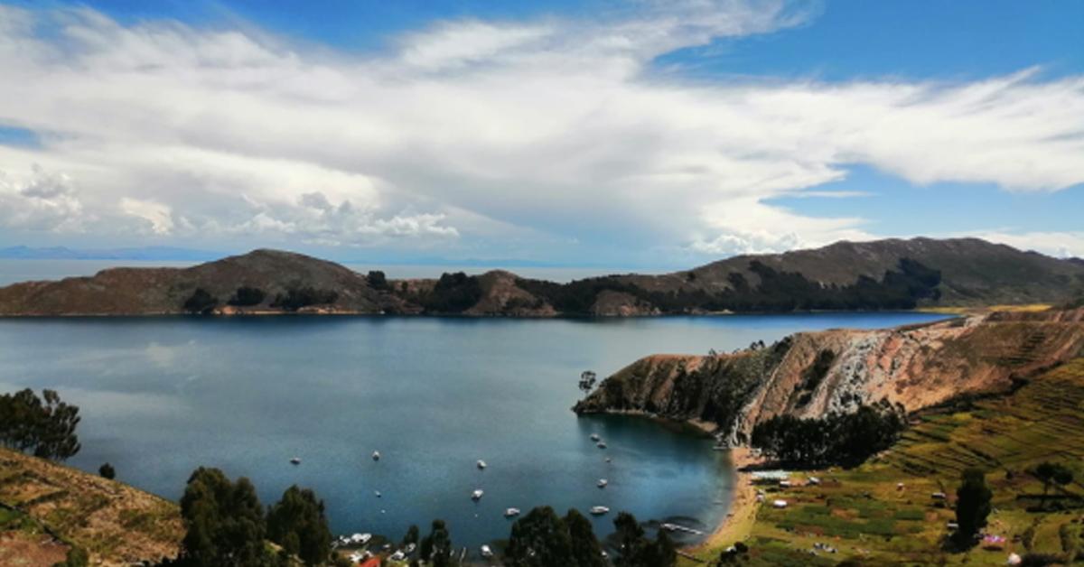 Il lago Titicaca dell'Isla del Sol